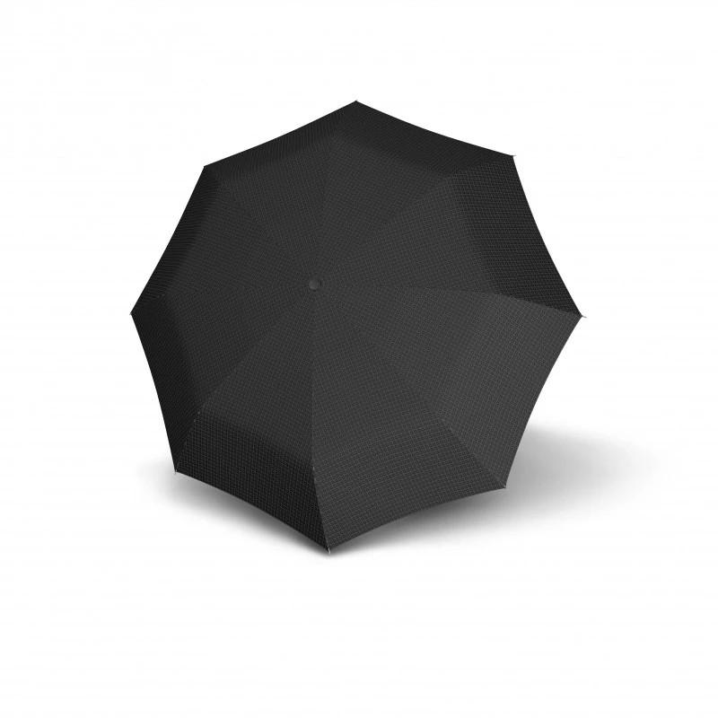 Černošedý plně automatický skládací pánský deštník Arlen