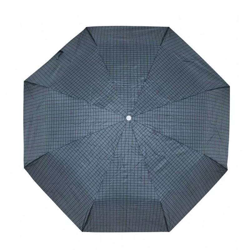 Šedočerný plně automatický skládací pánský deštník s linkou Arlen