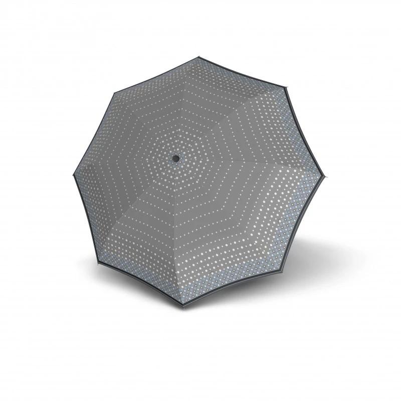 Šedomodrý dámský skládací mechanický deštník Cleo