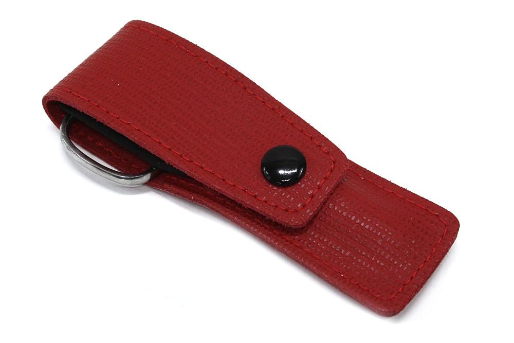 Červená cestovní kožená dámská manikúra Evonna