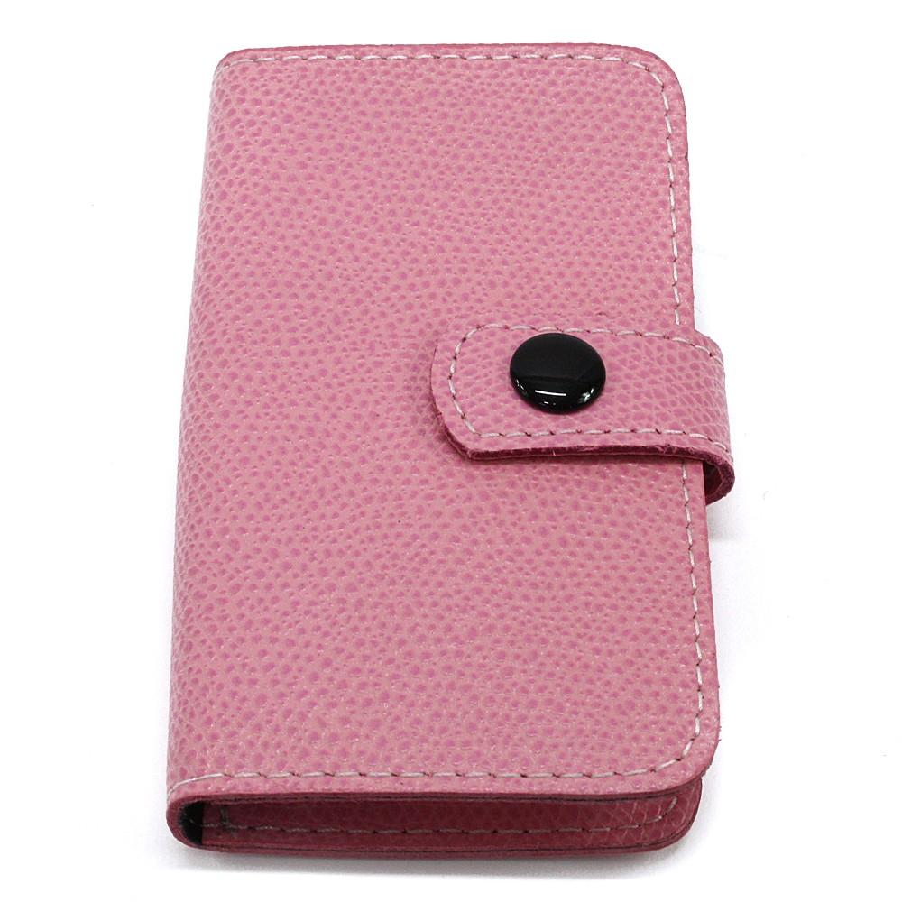 Růžová cestovní kožená dámská manikúra Fanetta