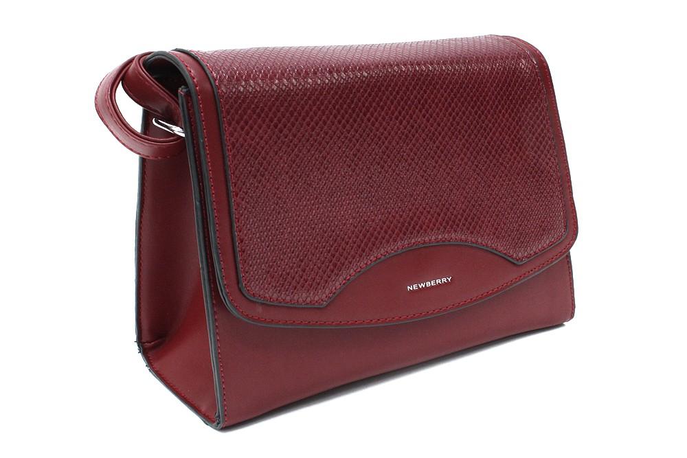 Vínově červená dámská klopnová kabelka Ellayne