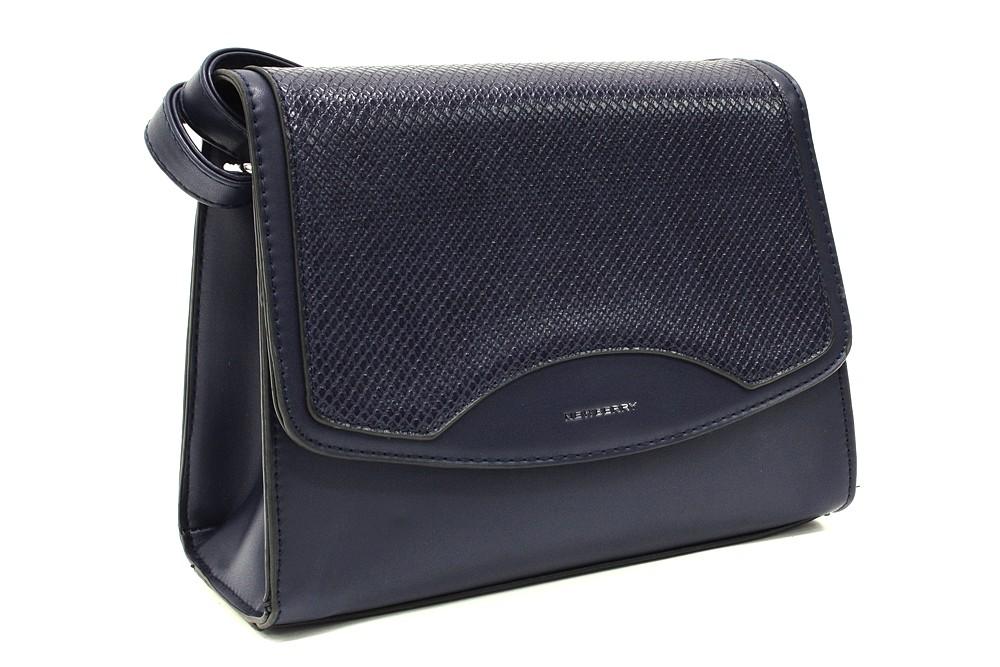 Tmavě modrá dámská klopnová kabelka Ellayne