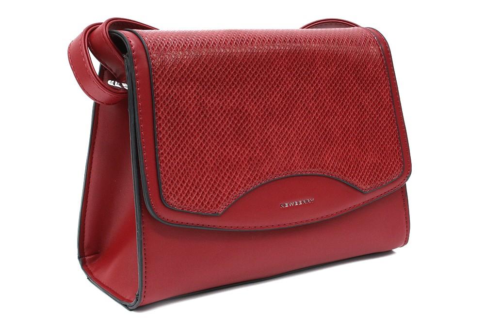 Tmavě červená dámská klopnová kabelka Ellayne