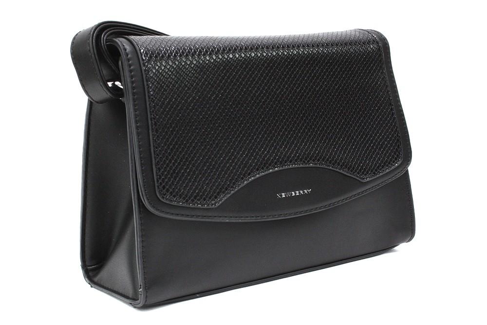 Černá dámská klopnová kabelka Ellayne