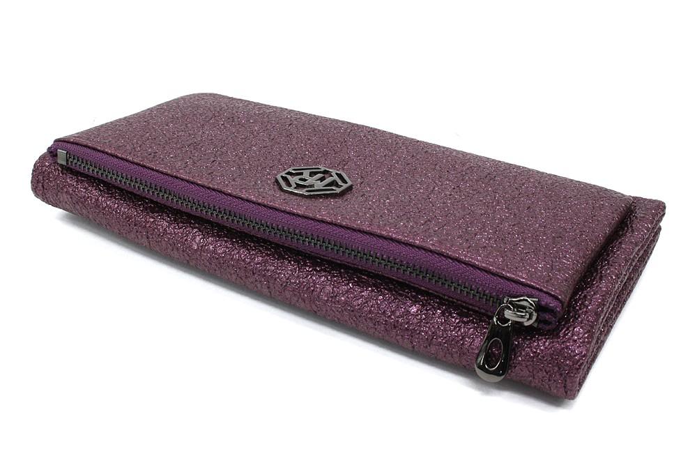 Velká fialová třpytivá dámská peněženka Jayden