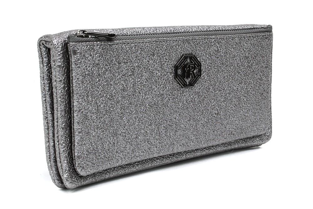 Velká stříbrná třpytivá dámská peněženka Jayden