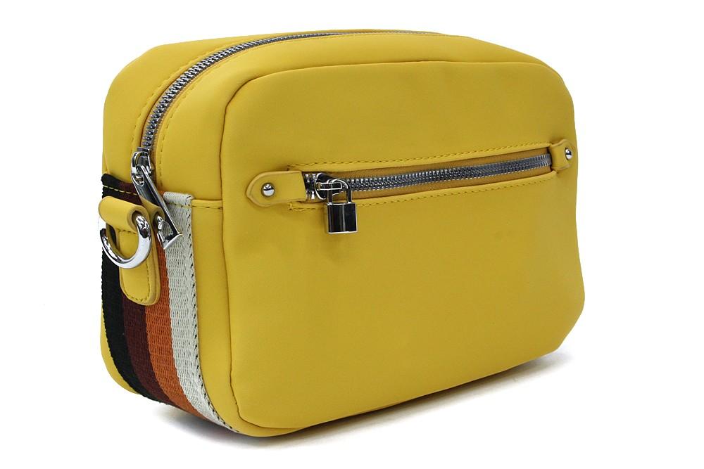 Žlutá obdélníková zipová dámská crosbody kabelka Gislyne