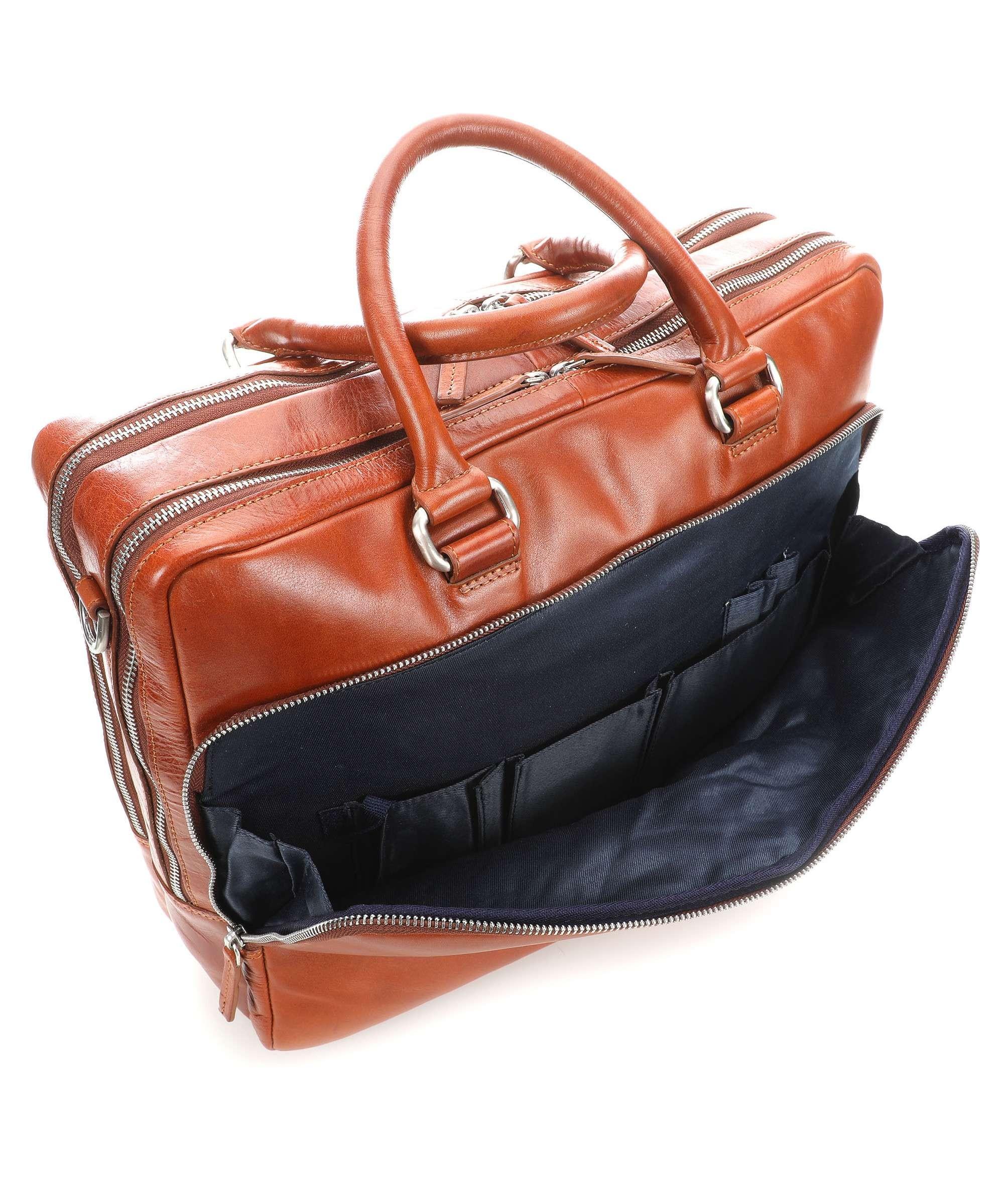 Hnědá kvalitní kožená pánská příruční taška Carolus