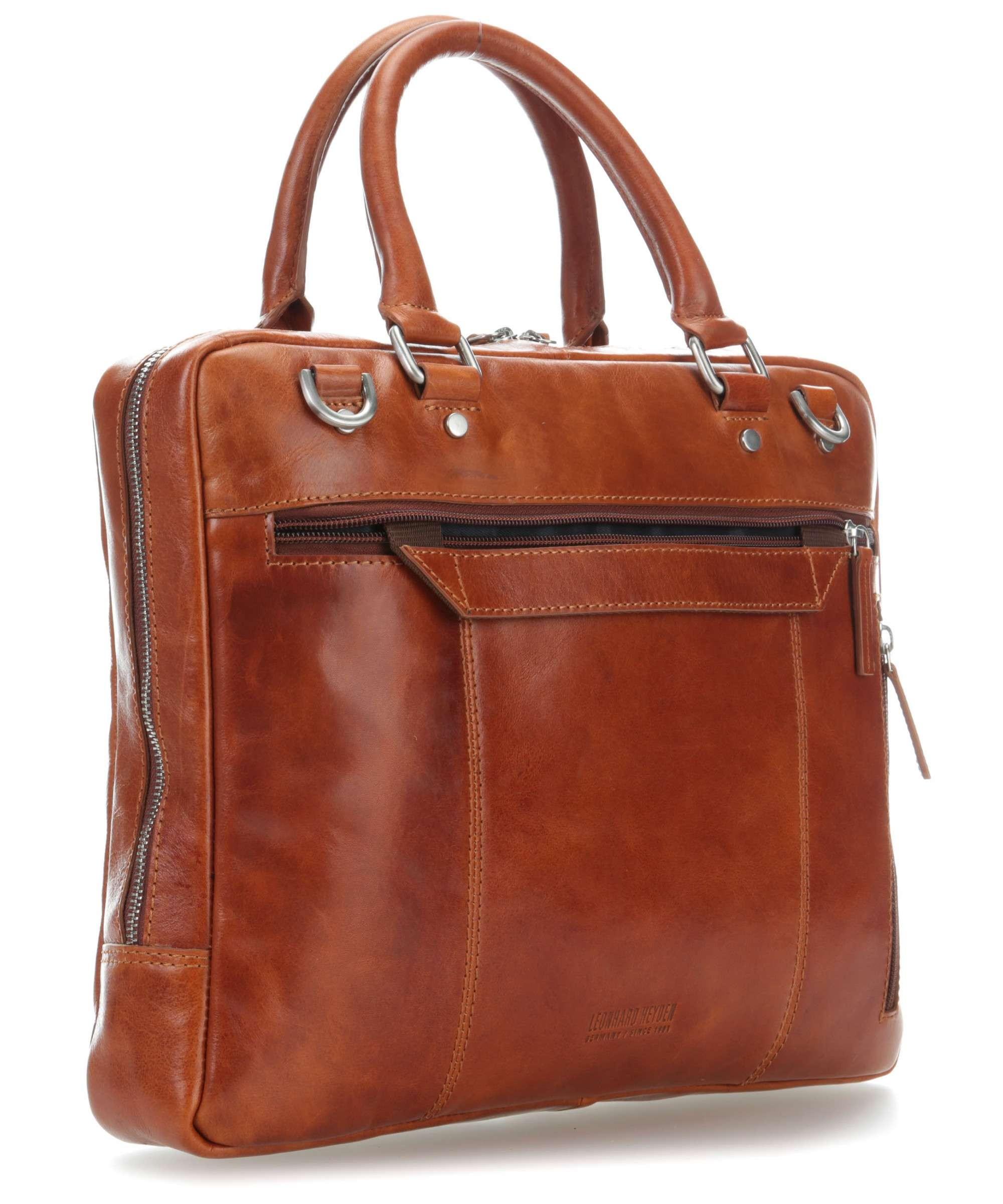 Hnědá kvalitní kožená pánská taška na notebook Dayne