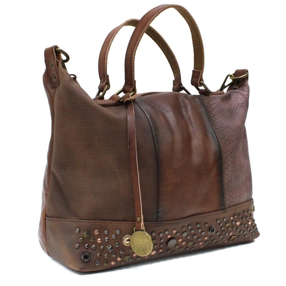 Hnědá luxusní dámská kabelka Calantha