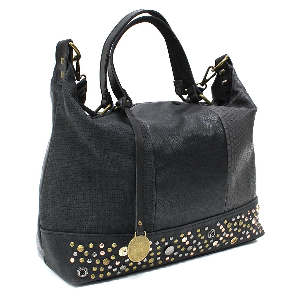 Černá luxusní dámská kabelka Calantha