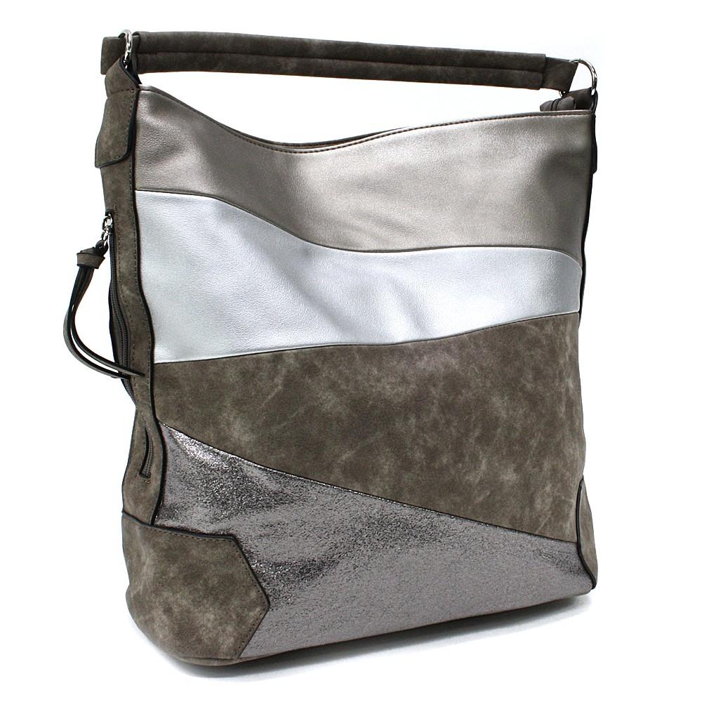 Hnědozlatá velká dámská kabelka přes rameno Eliane