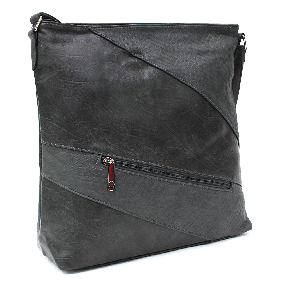 Tmavě šedá zipová dámská praktická kabelka Aubrey