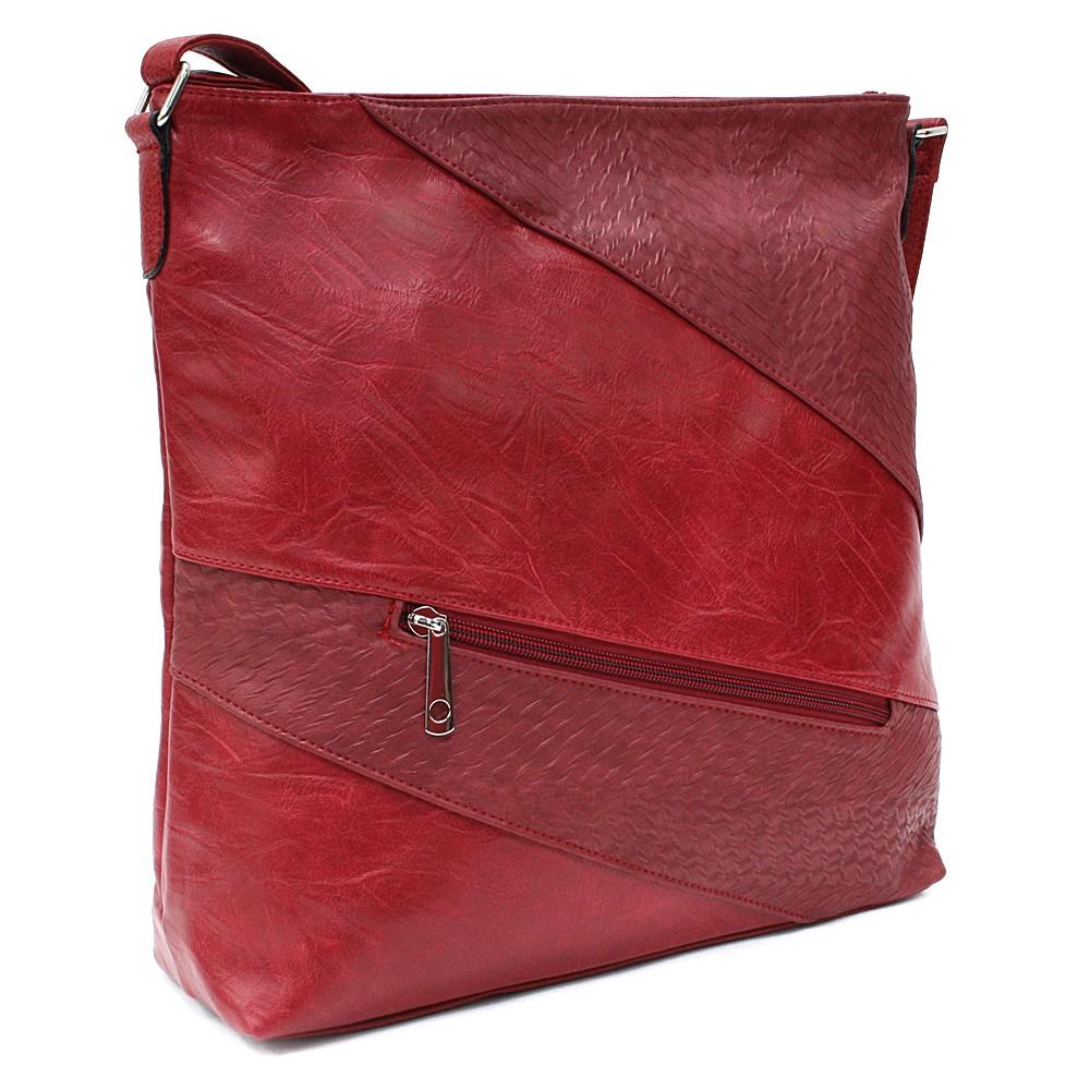 Červená zipová dámská praktická kabelka Aubrey