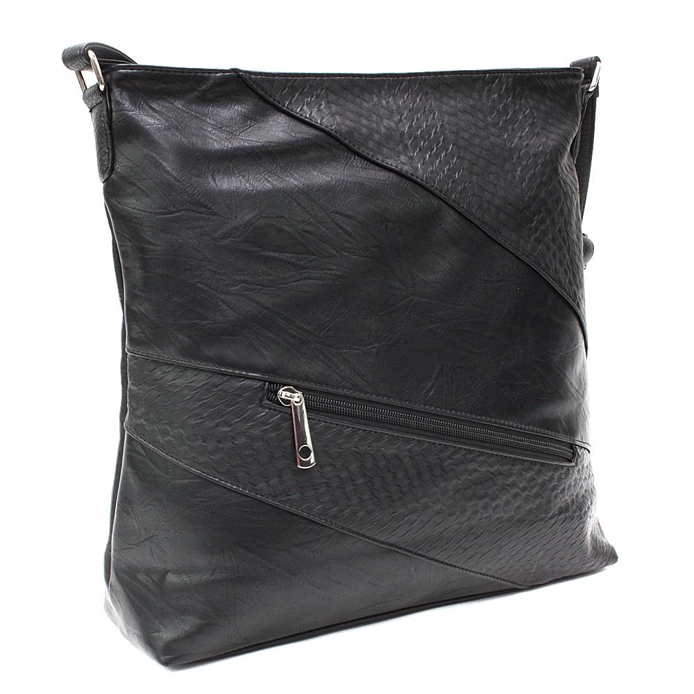 Černá zipová dámská praktická kabelka Aubrey