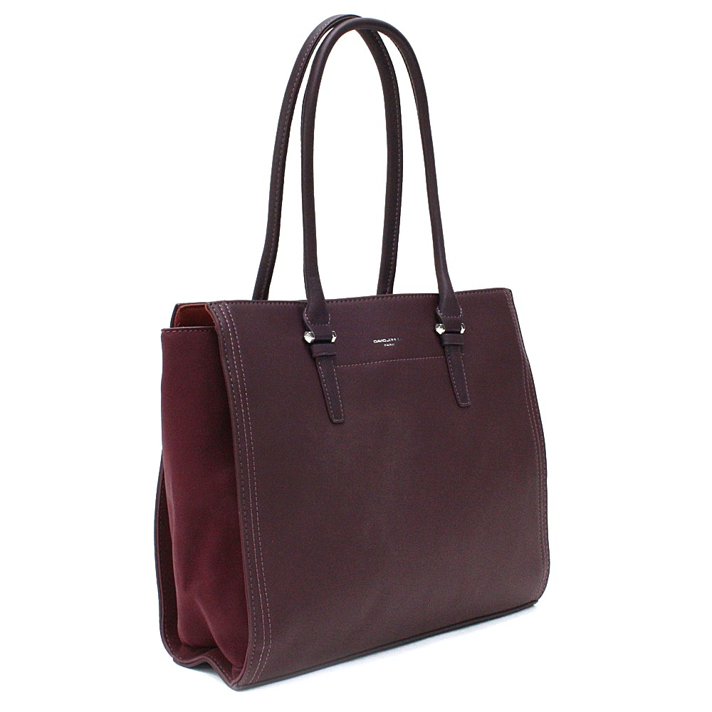 Vínově červená velká dámská kabelka do ruky Carine