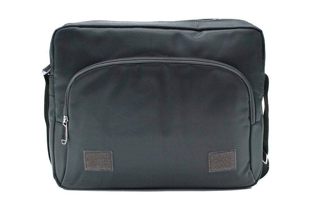 Kvalitní tmavě šedá pánská taška na notebook Zaiden