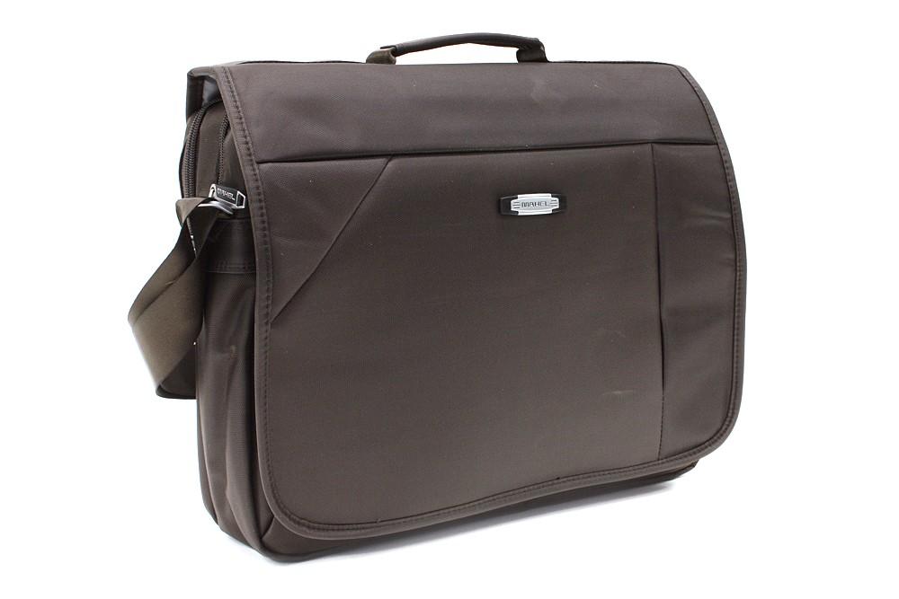 Kvalitní tmavě hnědá pánská taška na notebook Zaiden