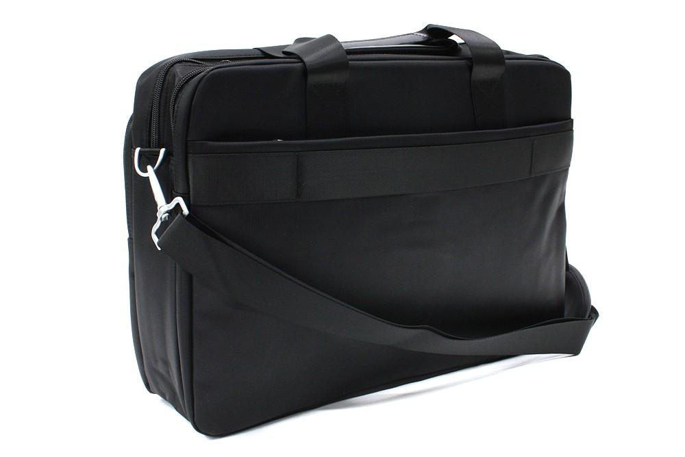 Kvalitní zipová černá pánská taška na notebook Ignacio