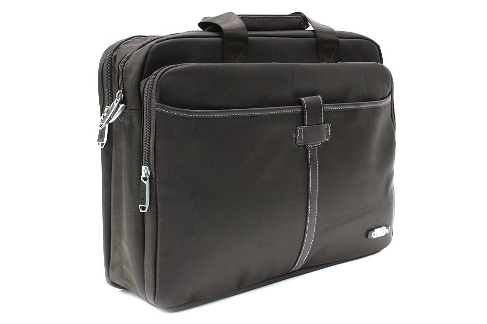 Kvalitní zipová hnědošedá pánská taška na notebook Ignacio
