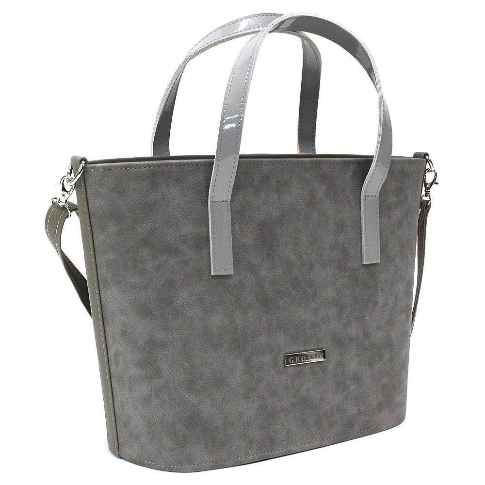 Šedá dámská kufříková kabelka Joleigh