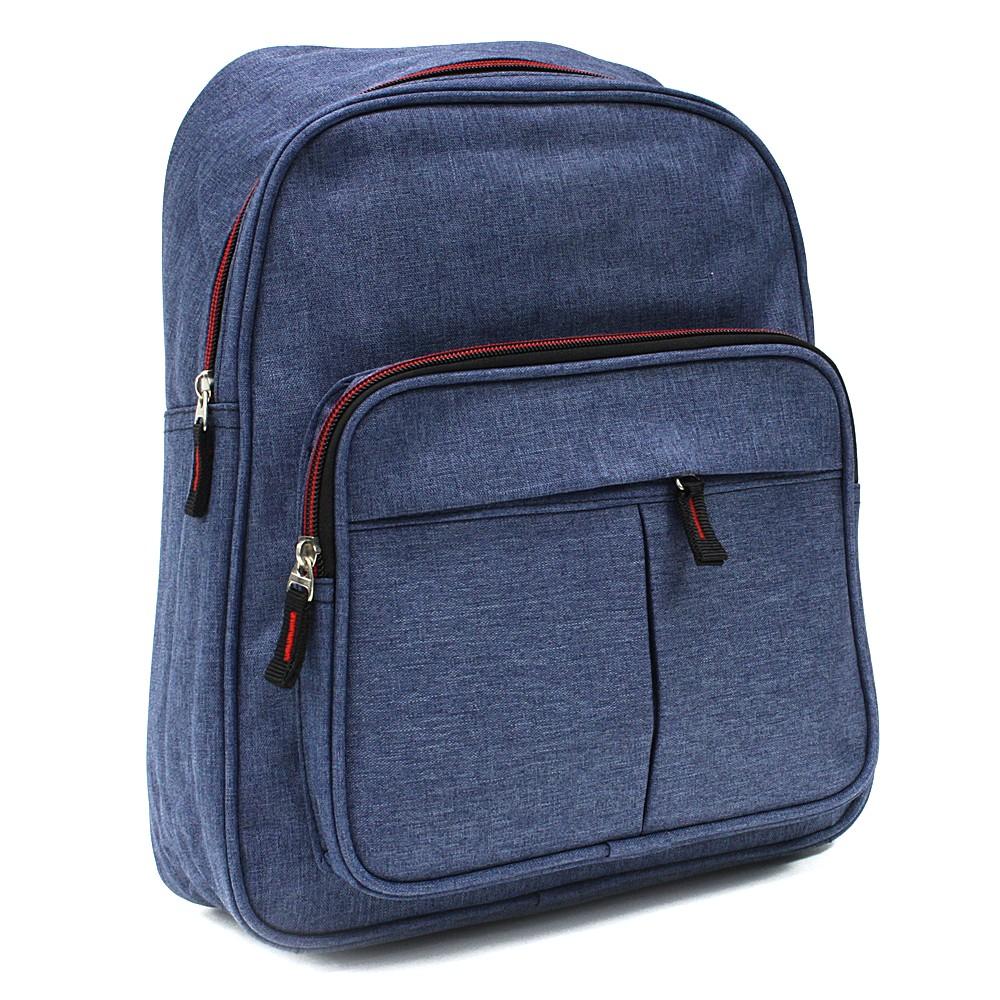 Modrý zipový pánský batoh Clarke
