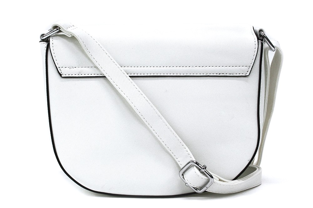 Bílá dámská klopnová kabelka Addie