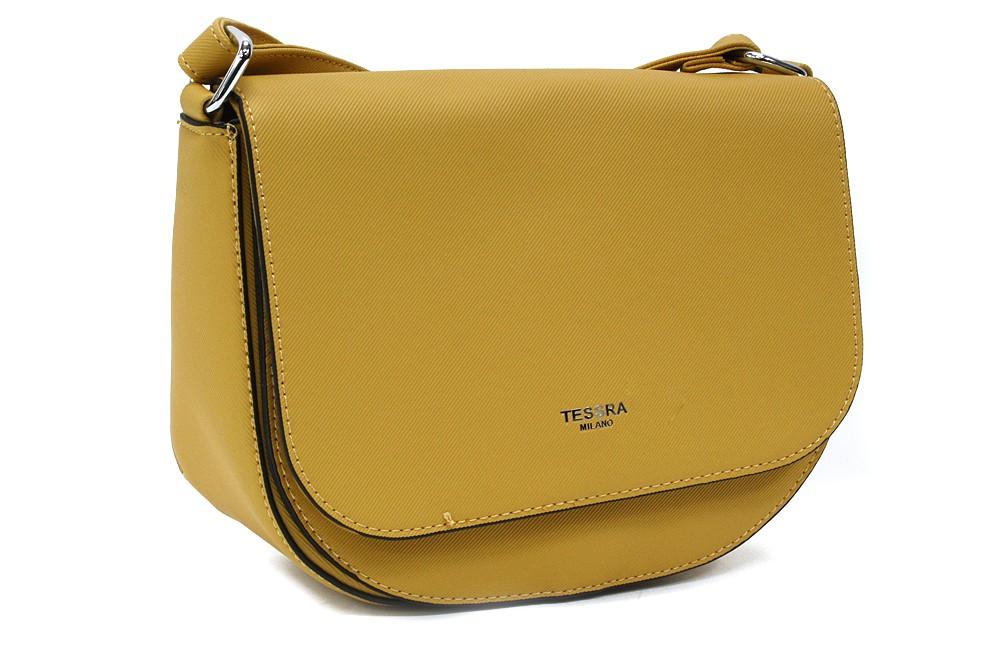 Žlutá dámská klopnová kabelka Addie