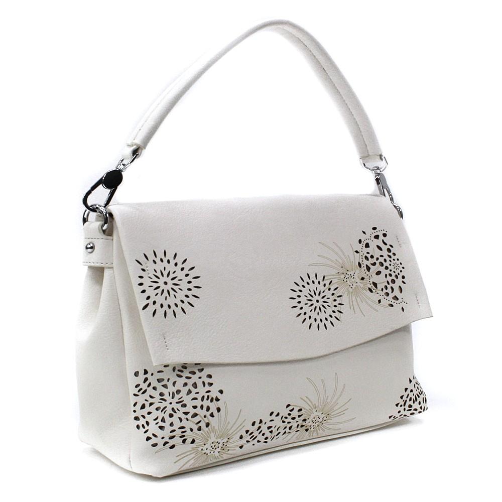 Světle béžová dámská kabelka s výraznou klopnou Musette