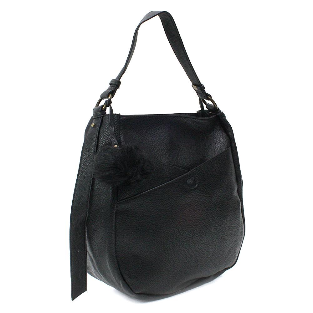 Černá prostorná dámská kabelka Carressa