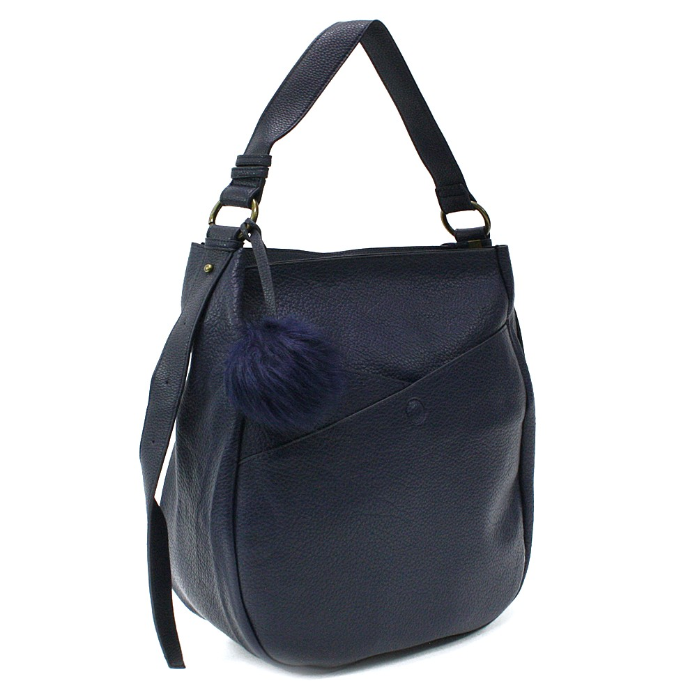 Modrá prostorná dámská kabelka Carressa