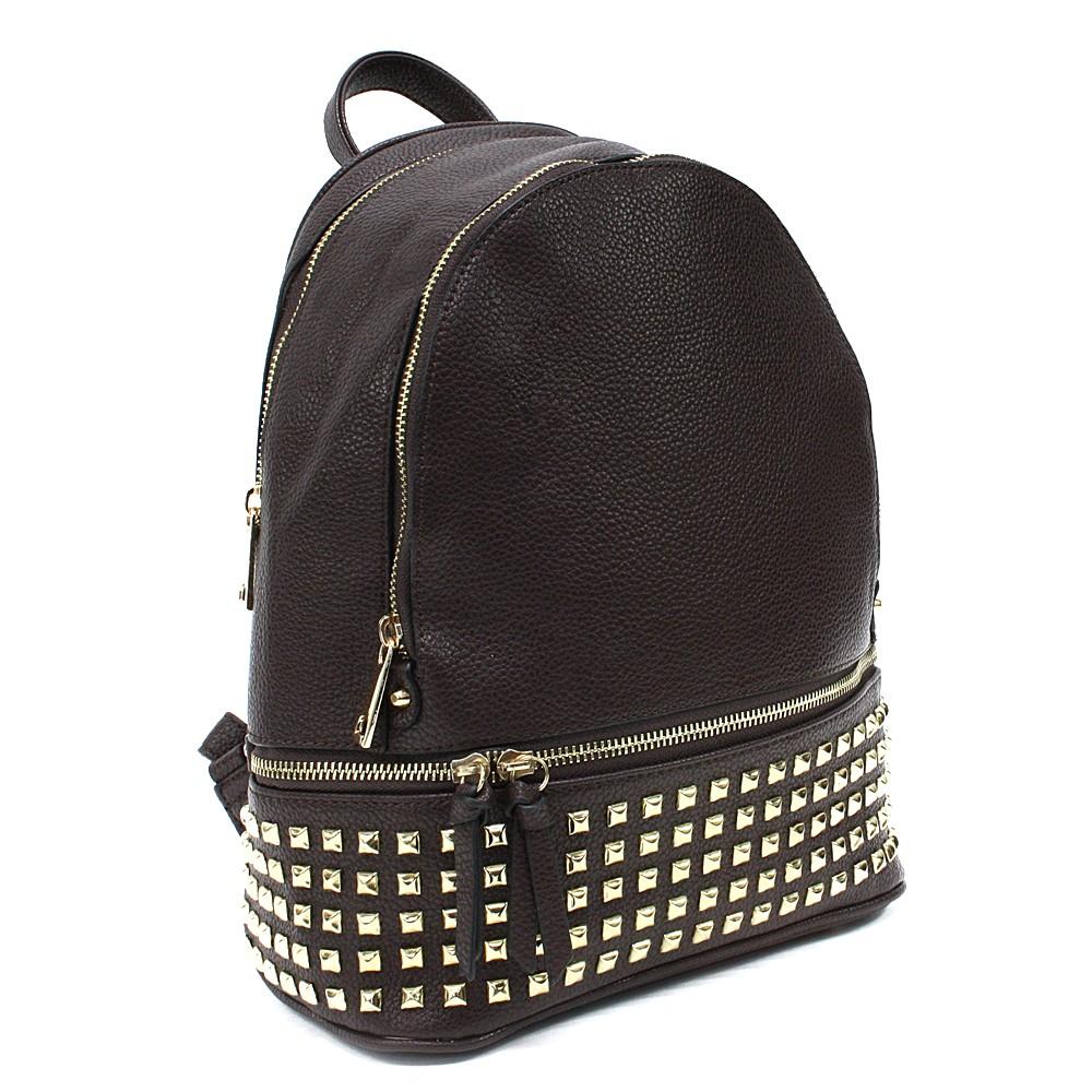 Tmavě hnědý dámský netradiční batoh Vladen