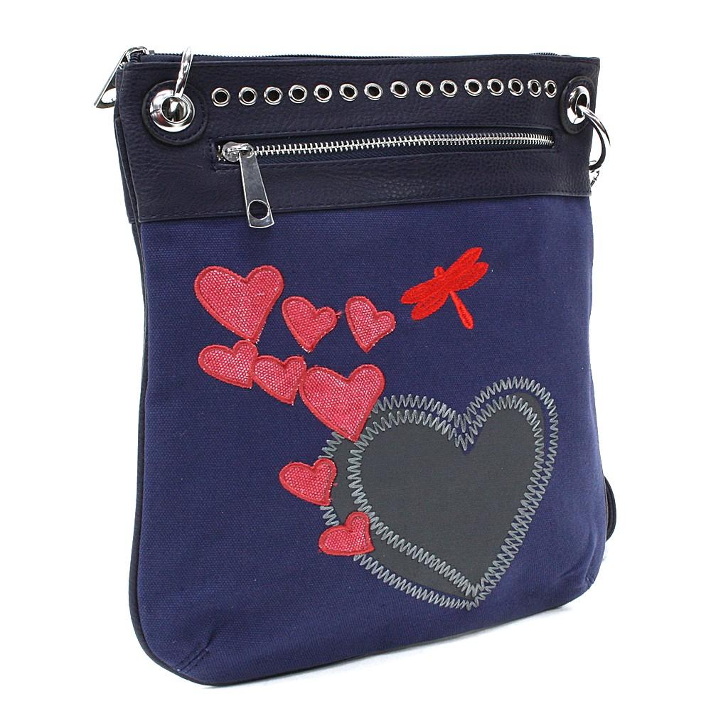 Modrá dámská crossbody kabelka Ariel