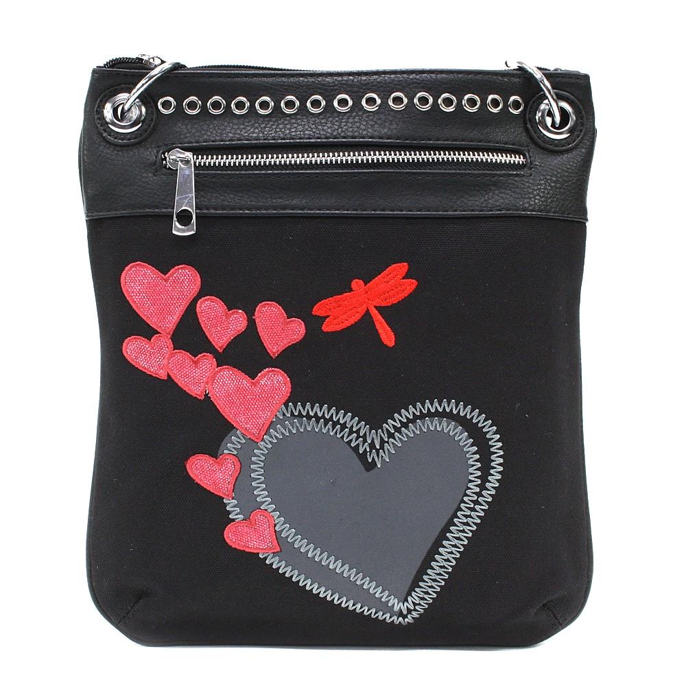 Černá crossbody kabelka Ariel