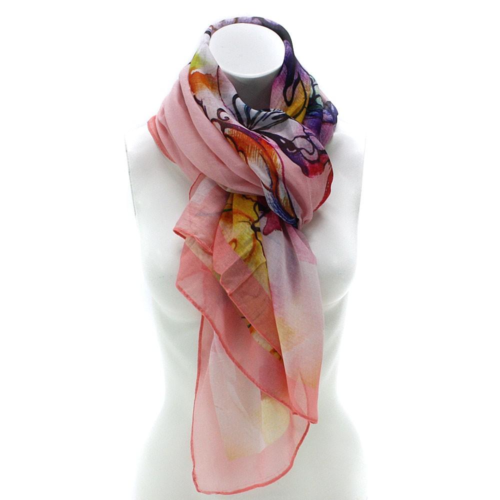 Květinový dámský módní šátek Jenina