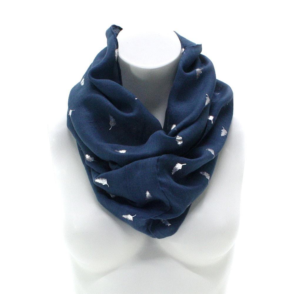 Modrý dámský tunelový šátek s drobným vzorem Avah