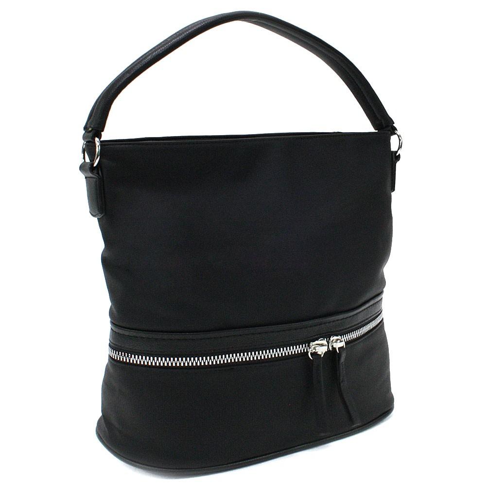 Černá moderní crossbody kabelka Lucrece
