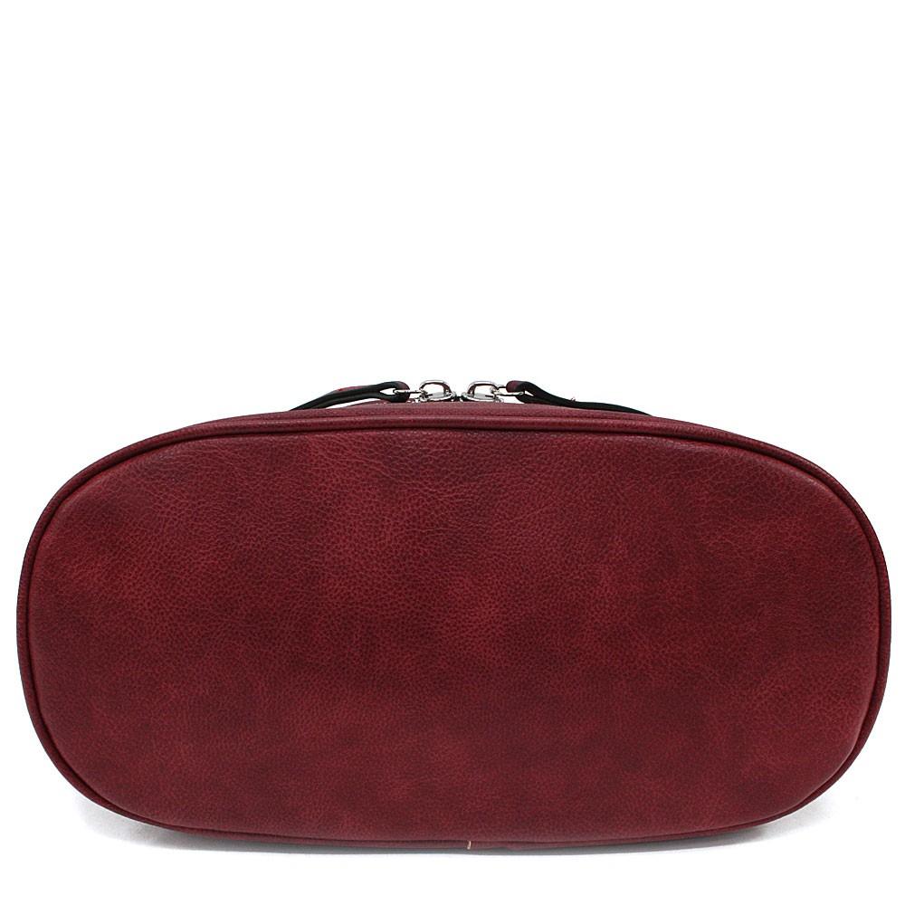 Tmavě červená moderní crossbody kabelka Lucrece