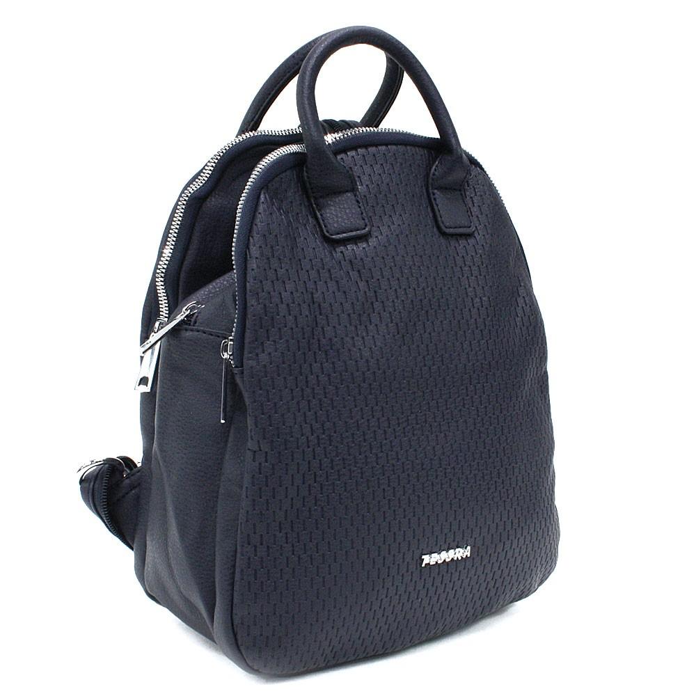 Tmavě modrý moderní zipový dámský batoh Mabella
