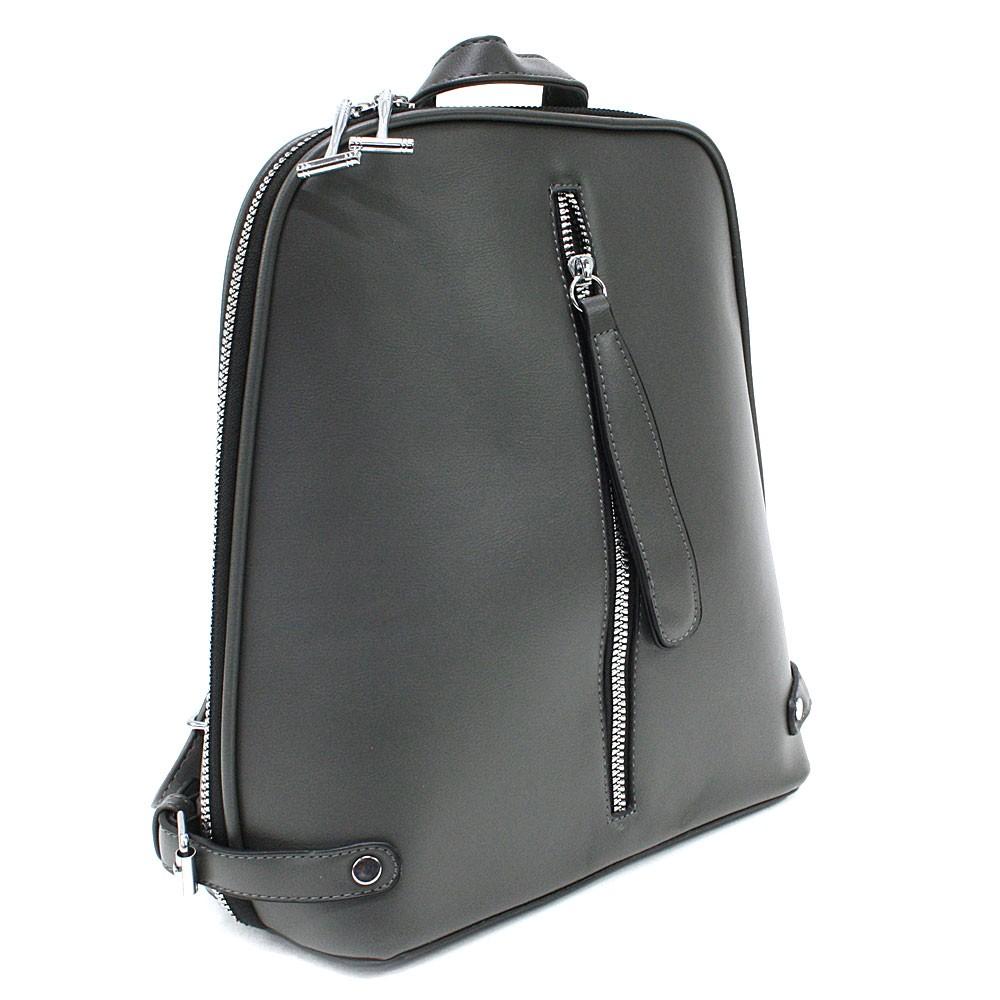 Tmavě šedý zipový městský dámský batoh Chereen