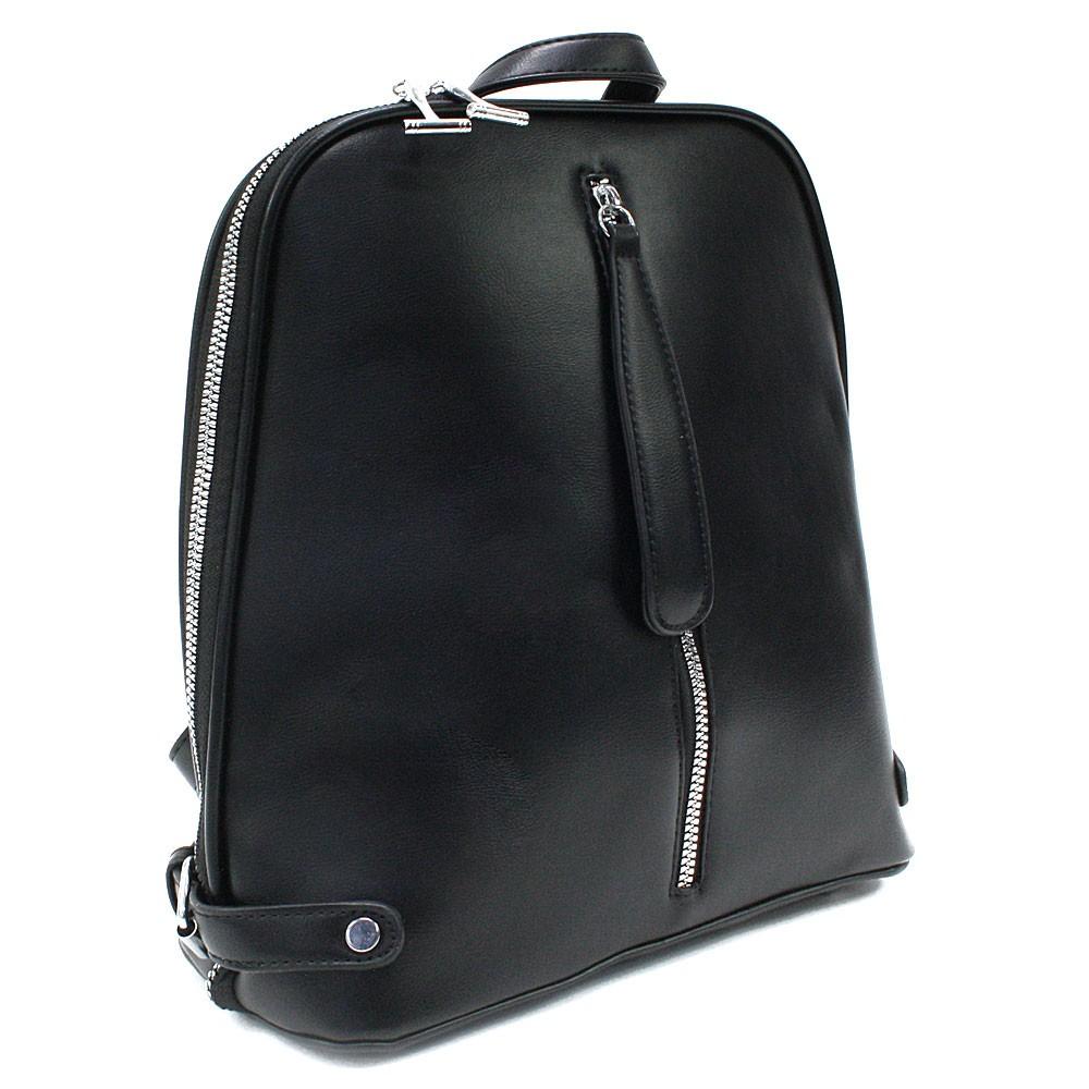 Černý zipový městský dámský batoh Chereen