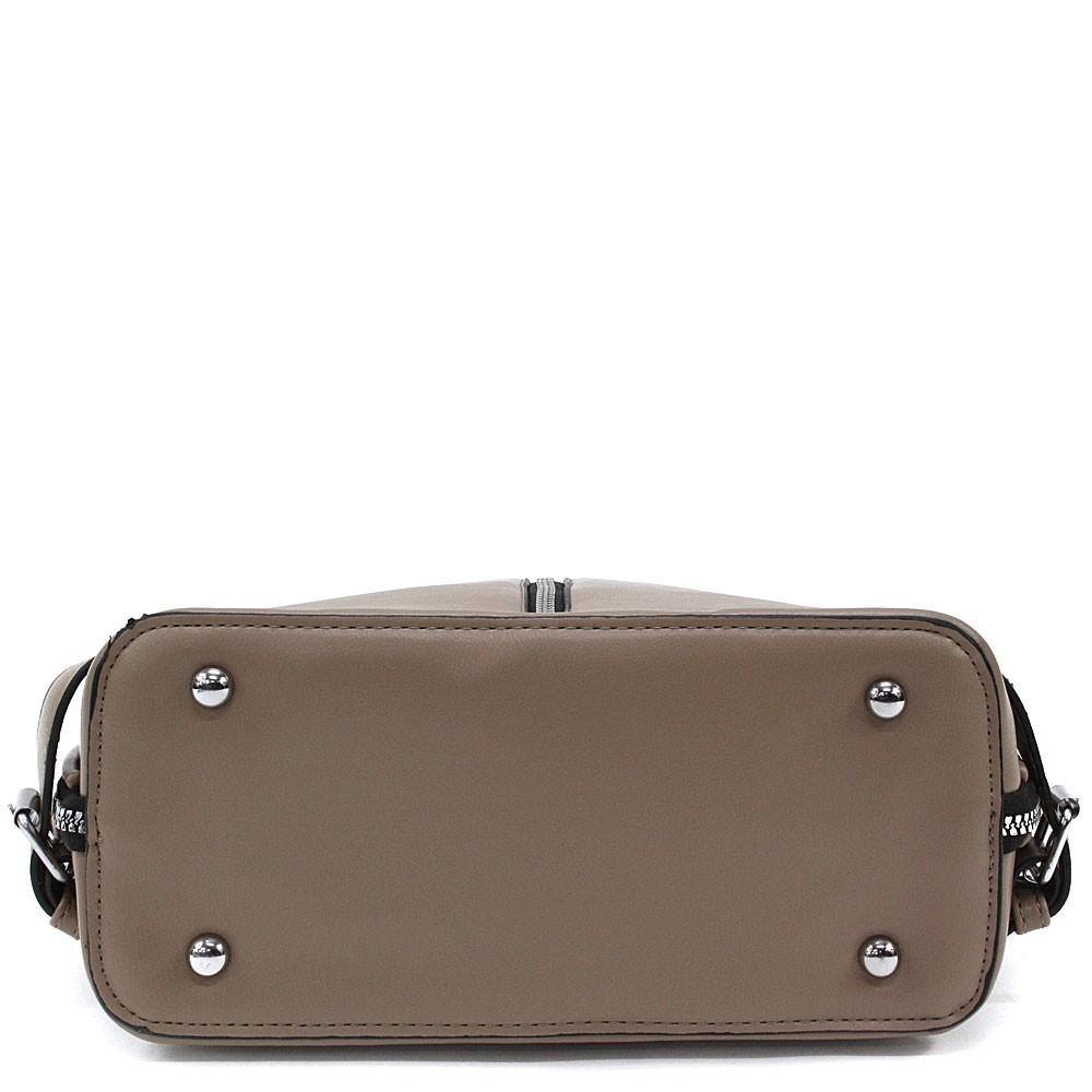 Šedobéžový zipový městský dámský batoh Chereen
