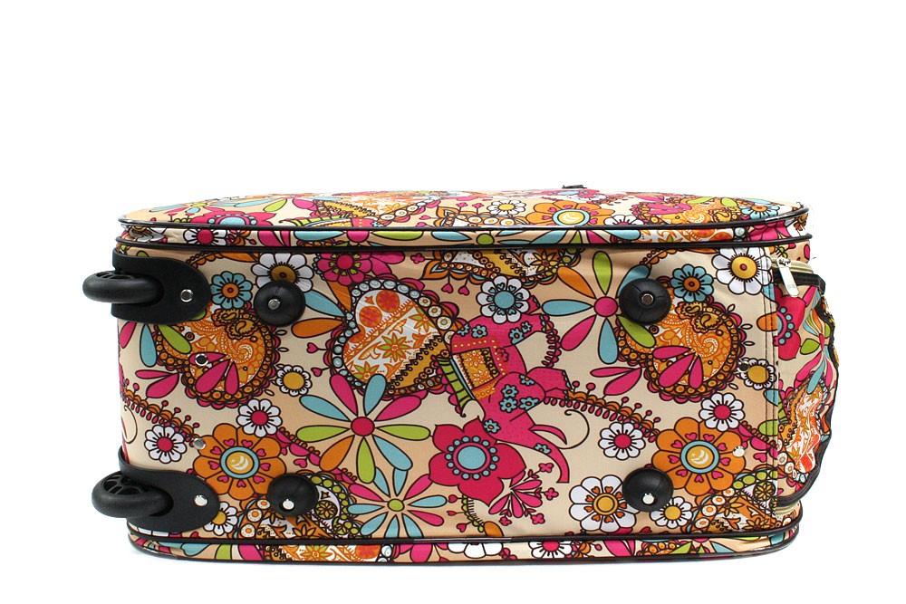 Barevná béžová velká cestovní taška se vzorem Madoline