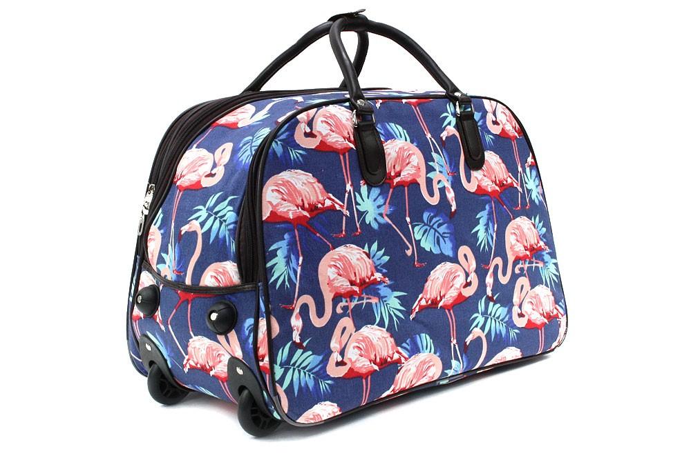 Modrá velká cestovní taška se vzorem Madoline