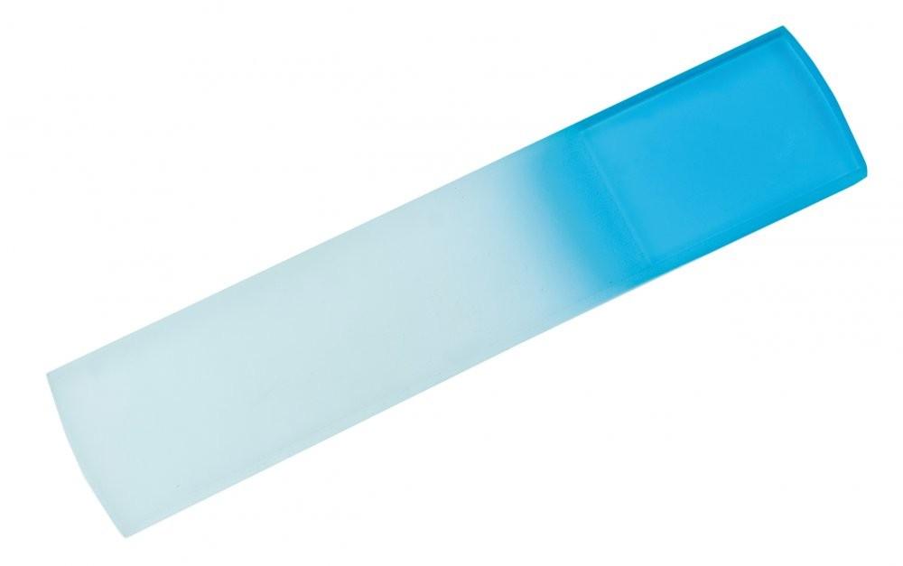 Modrobílý velký skleněný pilník na paty Lucian