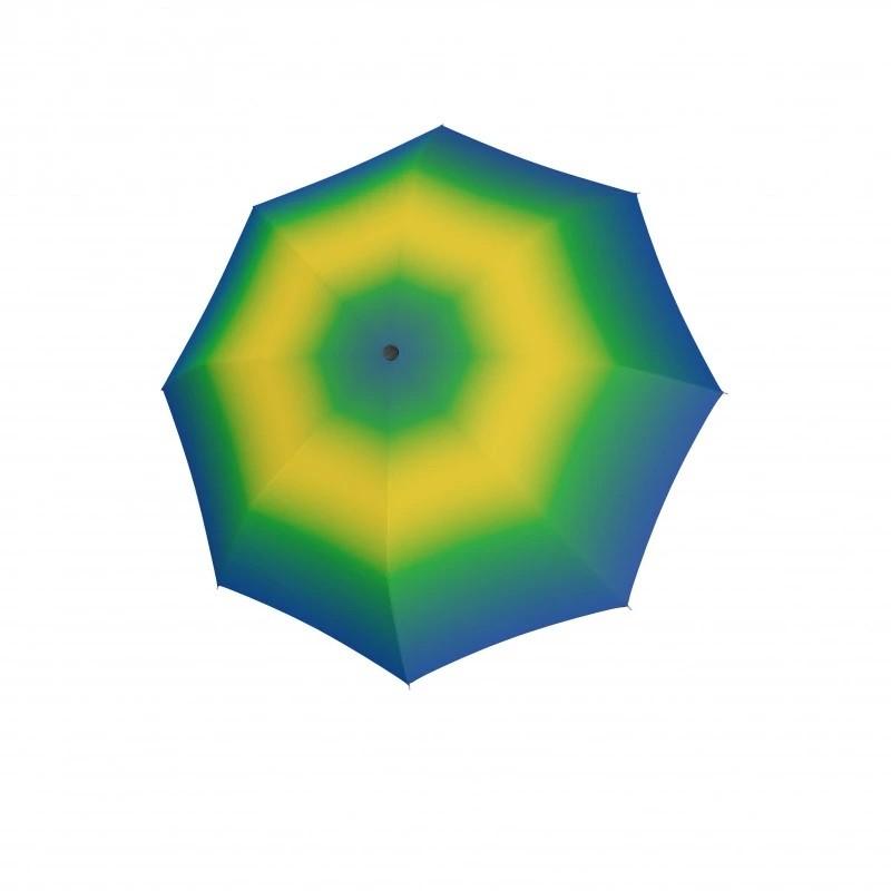 Zelený duhový automatický skládací dámský deštník Deeann