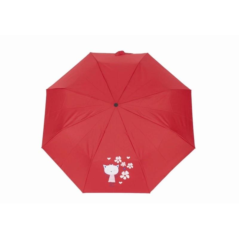 Červený skládací mechanický dětský deštník Cairo