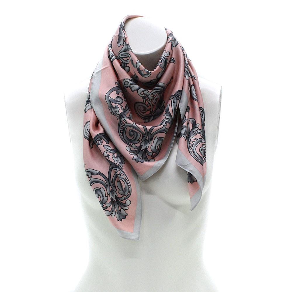 Růžový dámský módní šátek s motivem Shawntel