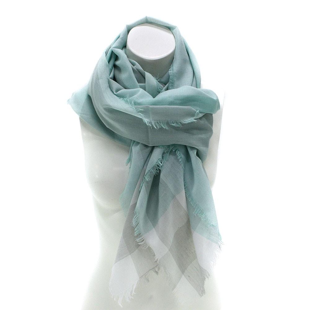 Mátově zelený dámský šátek s pruhem Calanthe